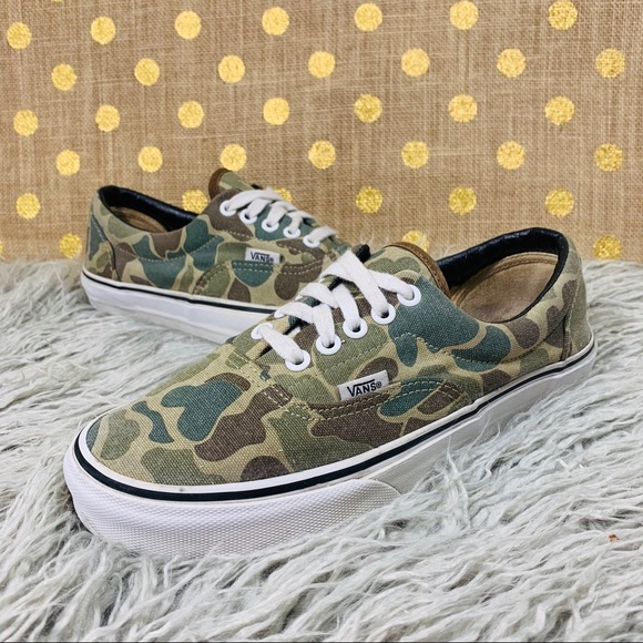 a89eeb439777f Vans Shoes | Era Van Doren Camo Sneakers Size 65 | Poshmark